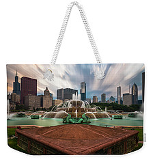 Chicago's Buckingham Fountain Weekender Tote Bag