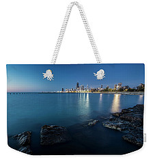 Chicago's Lakefront And Skyline At Dawn  Weekender Tote Bag