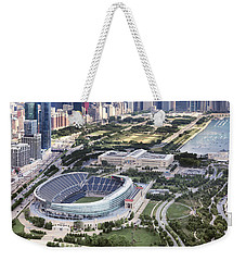 Chicago's Soldier Field Weekender Tote Bag by Adam Romanowicz