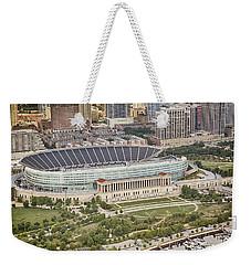 Chicago's Soldier Field Aerial Weekender Tote Bag