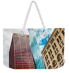 Chicago's South Wabash Avenue  Weekender Tote Bag by Semmick Photo