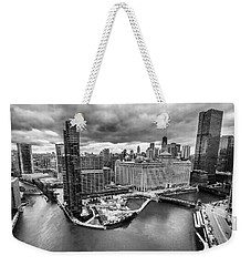 Chicago's Wolf Point From The 27th Floor Weekender Tote Bag