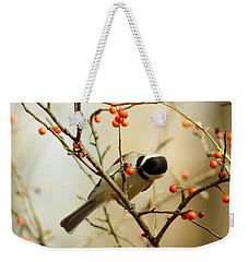 Chickadee 1 Of 2 Weekender Tote Bag