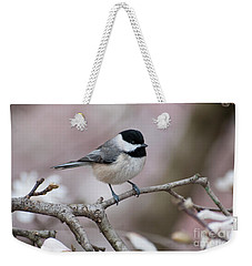 Weekender Tote Bag featuring the photograph Chickadee - D010026 by Daniel Dempster