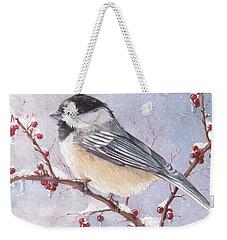 Chickadee Dee Dee Weekender Tote Bag