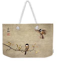 Chickadee Encounter II Weekender Tote Bag