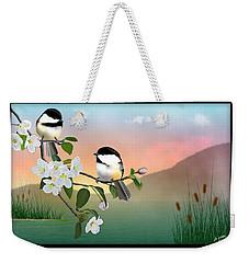 Chickadee Lake Weekender Tote Bag by John Wills