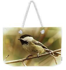 Chickadee Weekender Tote Bag
