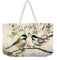Chickadee Love Weekender Tote Bag by Melly Terpening