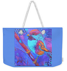 Chickadee Weekender Tote Bag by Nancy Jolley
