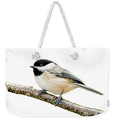Chickadee On Branch Weekender Tote Bag