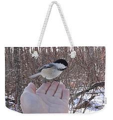 Chickadee Selfie Weekender Tote Bag