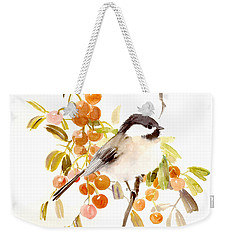 Chickadee Weekender Tote Bag by Suren Nersisyan