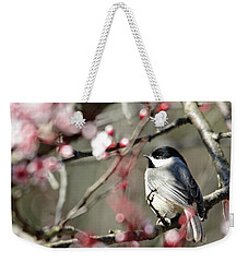 Chickadee Weekender Tote Bag by Trina Ansel