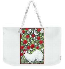Chicken And Butterflies In The Flowers Weekender Tote Bag