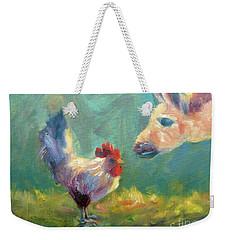 Chicken Meets Llama Weekender Tote Bag