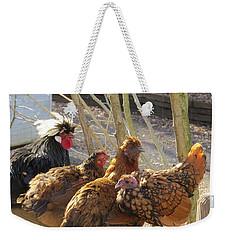 Chicken Protest Weekender Tote Bag