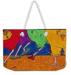 Chicken Walk Weekender Tote Bag