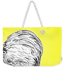 Weekender Tote Bag featuring the painting Chickens Two by Jason Tricktop Matthews
