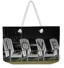 Chicoteague Love Chairs Weekender Tote Bag