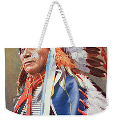 Chief Hollow Horn Bear Weekender Tote Bag