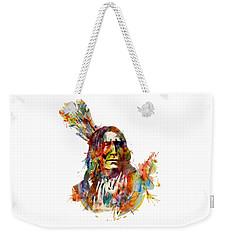 Chief Mojo Watercolor Weekender Tote Bag by Marian Voicu