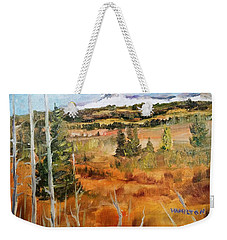 Chief Mountain Weekender Tote Bag by Larry Hamilton
