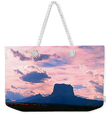 Chief Mountain, Pastel Weekender Tote Bag