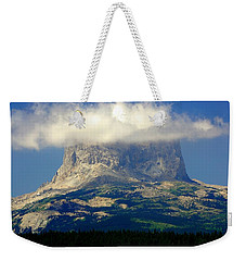 Chief Mountain, With Its Head In The Clouds Weekender Tote Bag