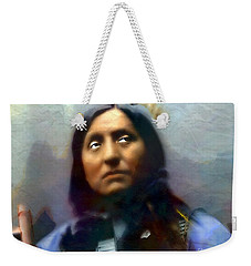 Chief Oglala Left Hand Bear Weekender Tote Bag