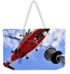 Chief Petty Officer Looks Out The Door Weekender Tote Bag by Stocktrek Images