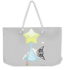 Weekender Tote Bag featuring the painting Chihuahua Cookie Baby by Catia Lee