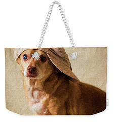 Chihuahua In A Newsboy Hat Weekender Tote Bag
