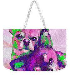 Chihuahua Love Weekender Tote Bag by Jane Schnetlage