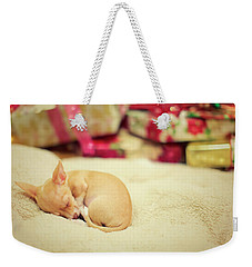 Chihuahua Puppy Christmas Dreams Weekender Tote Bag