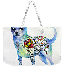 Weekender Tote Bag featuring the painting Chihuahua Topo by Patricia Lintner