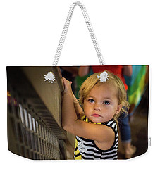 Weekender Tote Bag featuring the photograph Child In The Light by Bill Pevlor