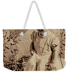 Weekender Tote Bag featuring the photograph Child Of 1940s by Linda Phelps