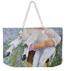 Child With A Lamb Weekender Tote Bag