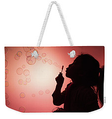Weekender Tote Bag featuring the photograph Childhood Days by William Lee