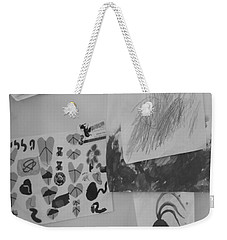 Weekender Tote Bag featuring the photograph Childhood Dreams On My Refrigerator by Esther Newman-Cohen