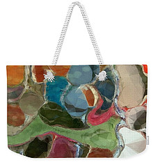 Weekender Tote Bag featuring the photograph Blue Monks by Kathie Chicoine