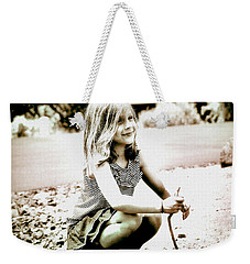 Weekender Tote Bag featuring the photograph Childhood Memories by Barbara Dudley
