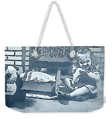 Weekender Tote Bag featuring the photograph Childhood Memories by Linda Phelps