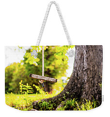 Weekender Tote Bag featuring the photograph Childhood Memories by Shelby Young