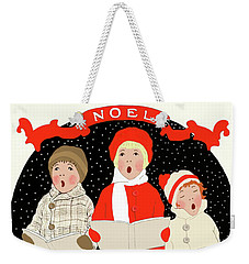 Children Caroling At Christmas Weekender Tote Bag