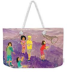 Children Catching Fireflies Weekender Tote Bag