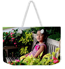 Weekender Tote Bag featuring the photograph Children by Diana Mary Sharpton