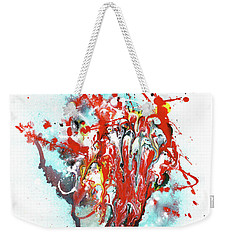 Children Of Light - Colorful Bright Read And Blue Abstract Art Painting Weekender Tote Bag