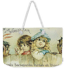 Children On A Fence Weekender Tote Bag by Reynold Jay